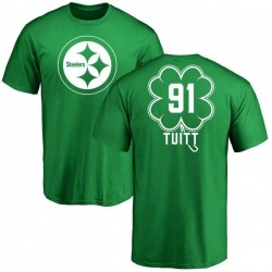 0a1442c78 Men s Stephon Tuitt Pittsburgh Steelers Green St. Patrick s Day Name   Number  T-Shirt