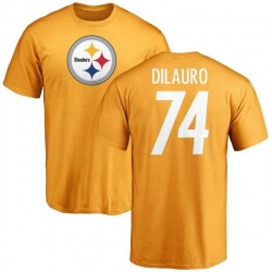 Youth Christian DiLauro Pittsburgh Steelers Name & Number Logo T-Shirt - Gold