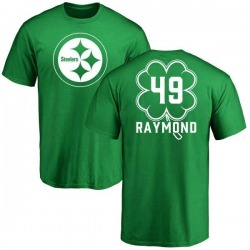 Youth Dax Raymond Pittsburgh Steelers Green St. Patrick's Day Name & Number T-Shirt