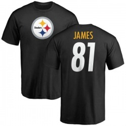 Youth Jesse James Pittsburgh Steelers Name & Number Logo T-Shirt - Black