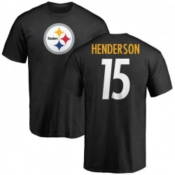 Youth Quadree Henderson Pittsburgh Steelers Name & Number Logo T-Shirt - Black