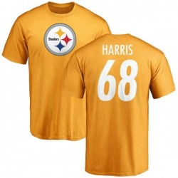 Youth Ryan Harris Pittsburgh Steelers Name & Number Logo T-Shirt - Gold