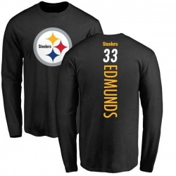 Youth Trey Edmunds Pittsburgh Steelers Backer Long Sleeve T-Shirt - Black